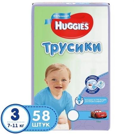 HUGGIES Подгузники-трусики PANTS Annapurna Размер 3 7-11кг 58 шт для мальчиков huggies трусики подгузники huggies 5 для мальчиков mega pack 13 17 кг 48 шт