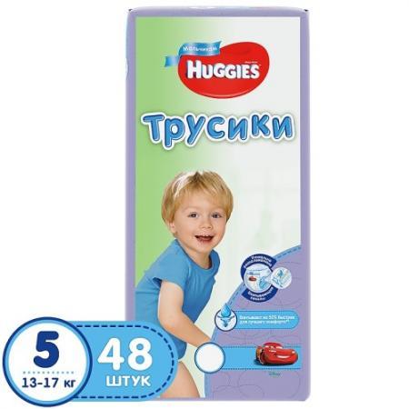 HUGGIES Подгузники-трусики Литтл Волкерс Размер 5 13-17кг 48шт для мальчиков хаггис трусики little walkers 5 13 17кг 32шт