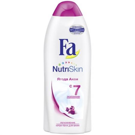 Fa Пена для ванн NutriSkin Увлажнение Ягода акаи 500 мл косметика для мамы fa гель для душа nutriskin увлажнение ягода акаи 250 мл