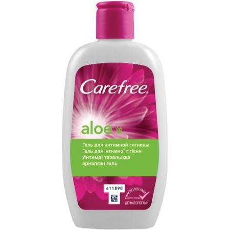 Carefree Гель с Алоэ для интимной гигиены 200мл carefree салфетки plus large fresh ароматизированные 20шт гель с алоэ для интимной гигиены 200мл в подарок