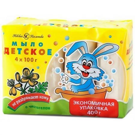НЕВСКАЯ КОСМЕТИКА Туалетное мыло Детское Чистотел 4х100 гр стиральный порошок сарма невская косметика 2400гр