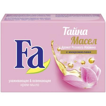 Fa Крем-мыло Кусковое Тайна масел Розовый жасмин 90г