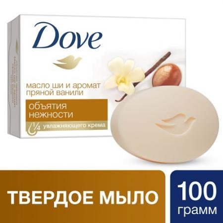 DOVE Крем-мыло Объятия нежности 100г dove жидкое крем мыло прикосновение свежести 250 мл