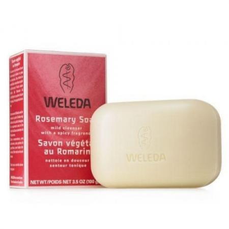WELEDA Розмариновое мыло 100 г косметика для мамы weleda растительное мыло розмариновое 100 г
