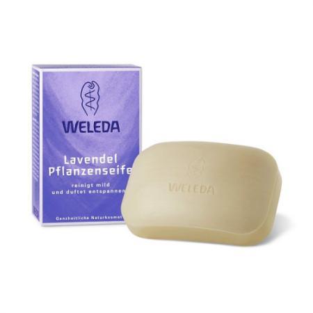 WELEDA Лавандовое растительное мыло 100г косметика для мамы weleda растительное мыло розмариновое 100 г