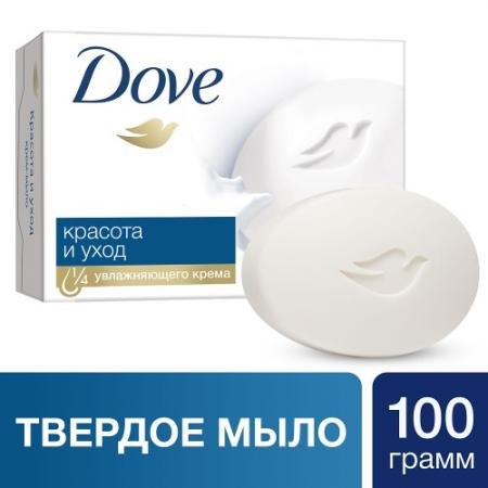 DOVE Крем-мыло Красота и уход 100г dove жидкое крем мыло прикосновение свежести 250 мл