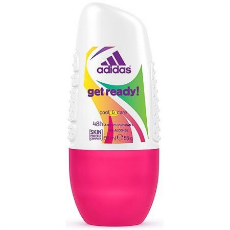 Adidas Get ready! дезодорант- антиперспирант ролик для женщин 50мл adidas climacool дезодорант антиперспирант ролик для женщин 50 мл
