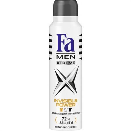 Fa MEN Дезодорант-антиперспирант аэрозоль Xtreme Invisible 150мл fa дезодорант антиперспирант аэрозоль floral protect мак
