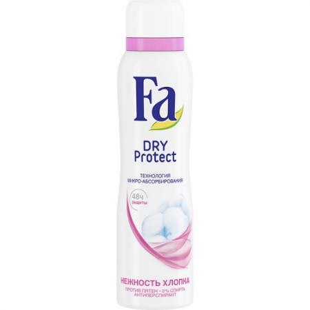 FA Дезодорант-антиперспирант аэрозоль Dry Protect Нежность хлопка 150мл fa дезодорант антиперспирант аэрозоль floral protect мак