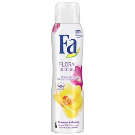 Fa Дезодорант-антиперспирант аэрозоль Floral Protect Орхидея & Фиалка 150мл консервы для кошек edel cat с гусем и печенью нежные кусочки в желе 100 г