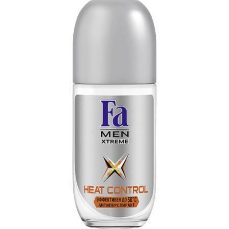 FA MEN Дезодорант-антиперспирант роликовый Xtreme Heat Control 50мл fa дезодорант антиперспирант роликовый прозрачная защита 50мл