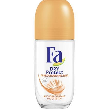 FA Дезодорант-антиперспирант роликовый Dry Protect Прикосновение льна 50мл fa антиперспирант роликовый men xtreme protect 5