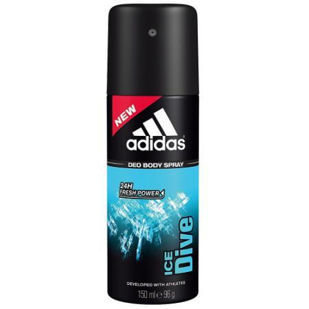 Adidas Ice Dive дезодорант-спрей для мужчин 150 мл adidas pure game дезодорант спрей для мужчин 150 мл