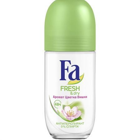 FA Дезодорант-антиперспирант роликовый Fresh&Dry Цветок Вишни 50мл morellato r0151137503