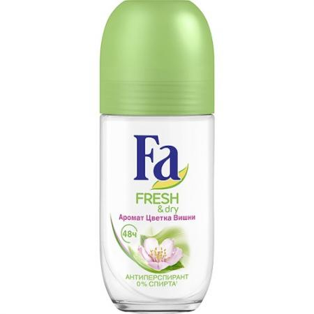 FA Дезодорант-антиперспирант роликовый Fresh&Dry Цветок Вишни 50мл погореловский с вместе со всеми