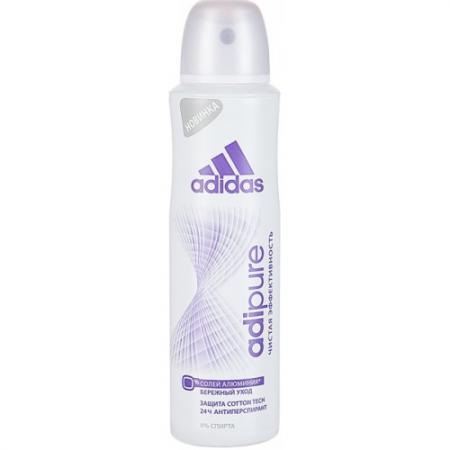 Adidas Adipure 24ч дезодорант-спрей для женщин 150 мл дезодорант hlavin дезодорант спрей для обуви