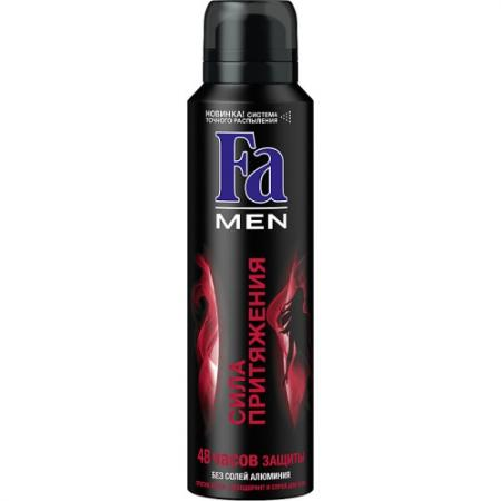 FA MEN Дезодорант-антиперспирант аэрозоль Сила Притяжения 150мл fa дезодорант антиперспирант аэрозоль floral protect мак