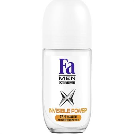 Fa MEN Дезодорант-антиперспирант роликовый Xtreme Invisible POWER 50мл fa дезодорант антиперспирант роликовый прозрачная защита 50мл