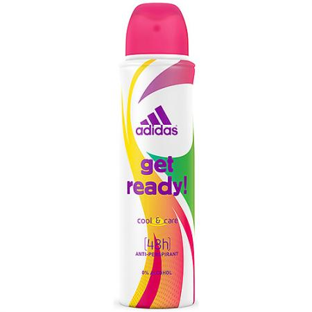 Adidas Cool & Care Get Ready! 48ч дезодорант- антиперспирант спрей для женщин 150 мл корм для кошек darsi курица сух 10кг