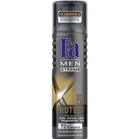 FA MEN Дезодорант-антиперспирант аэрозоль Xtreme Protect 5 150мл пн антикризис fa аэрозоль дезодорант антиперспирант floral protect орхидея