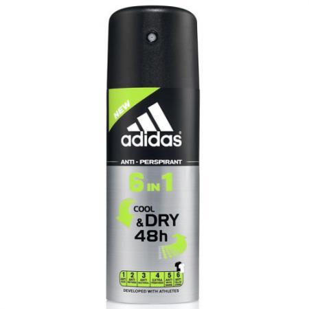 Аdidas 6in1 дезодорант-антиперспирант спрей для мужчин 150 мл adidas дезодорант спрей для мужчин pure game 150 мл
