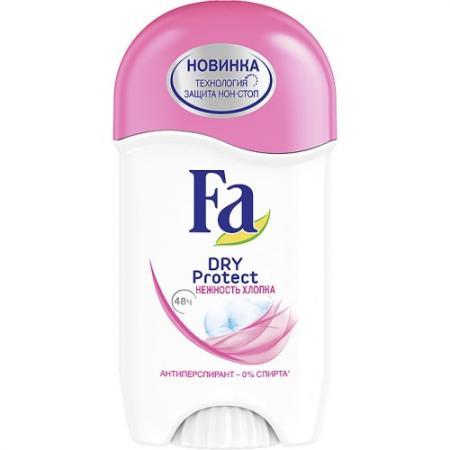 FA Дезодорант-антиперспирант стик Dry Protect Нежность хлопка 50мл дезодорант fa fa fa033lwsis37