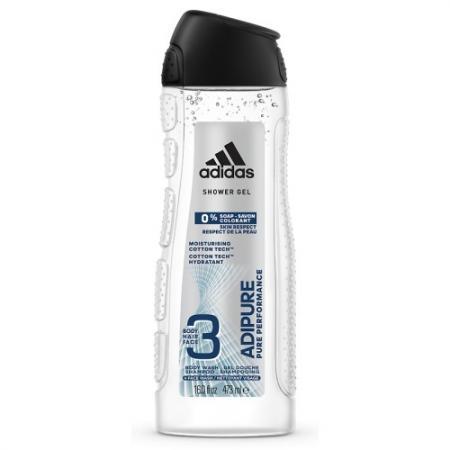 Adidas Adipure гель д/д муж 250мл набор dove энергия свежести муж шампунь 250мл дез 50мл стик гель д д 250мл косметичка