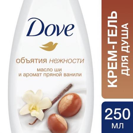 DOVE Крем-гель для душа Масло Ши и ваниль 250мл гель для душа korres ваниль
