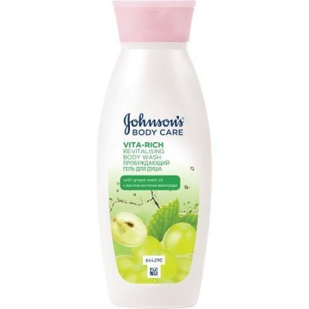 Johnsons Body Care VITA-RICH Гель для душа с экстрактом Виноградной косточки 250 мл johnsons body care vita rich смотка гель для душа с экстрактом лесных ягод 250мл гель для душа с мас