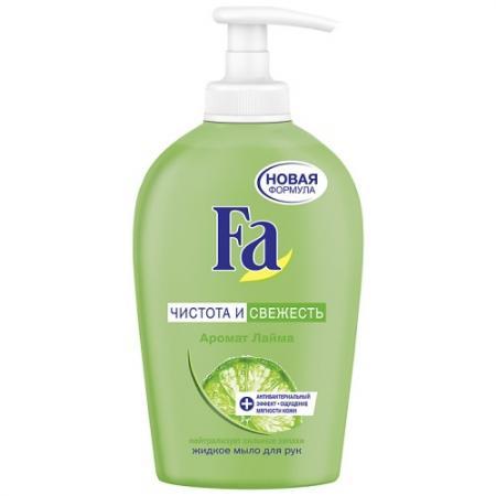 Fa Жидкое мыло Чистота и Свежесть Лайм 250мл косметика для мамы fa жидкое мыло чистота и свежесть лайм 250 мл