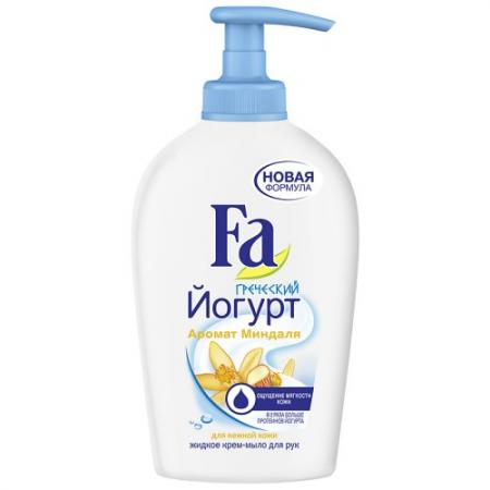 FA Жидкое крем-мыло Греческий Йогурт Миндаль 250мл набор fa греческий йогурт гель д душа 250мл мыло 2шт х90г