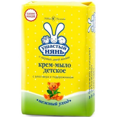 УШАСТЫЙ НЯНЬ Туалетное мыло детское Алоэ 90 гр