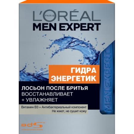 LOREAL MEN EXPERT Лосьон после бритья Гидра энергетик антибактериальный эффект 100мл l oreal paris лосьон после бритья ледяной эффект men expert гидра энергетик объем 100 мл