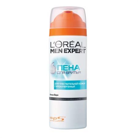LOREAL MEN EXPERT Пена для бритья Гидра сенситив для чувствительной кожи 200мл gibbs пена для бритья sensitive 200мл