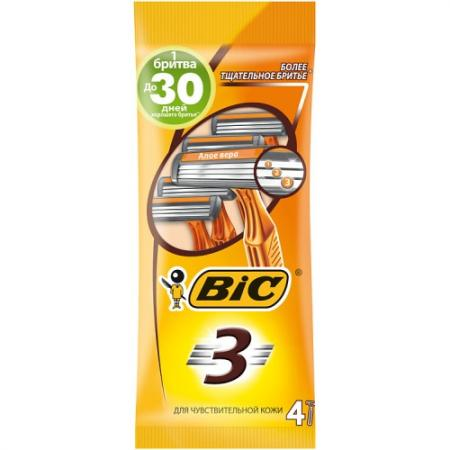 Бритвенный станок BIC Sensitive 4 бритвенный станок bic action 4