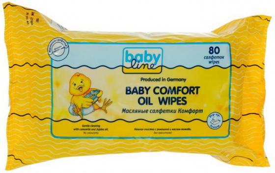 Салфетки влажные Babyline Комфорт 80 шт не содержит спирта babyline влажные салфетки комфорт 80 шт babyline