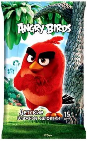 Салфетки влажные Angry Birds Movie №15 15 шт не содержит спирта в ассортименте hasbro хасборо angry birds star дженга гонщики a5088