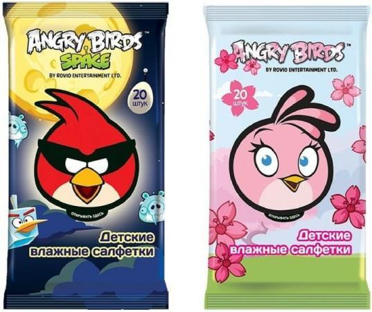 Салфетки влажные Angry birds Детсткие 20 шт не содержит спирта в ассортименте игра 72402 angry birds 170 деталей в коробке 30 5 5 23см angry birds 1167133