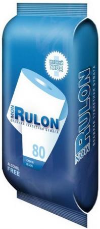 Влажная туалетная бумага Mon Rulon 80 шт не содержит спирта гипоаллергенные влажная стол комп mon