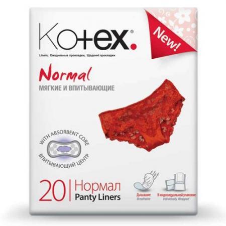 Kotex Прокладки ежедневные Дышашие Нормал 20шт котекс прокладки ежедневные нормал 60