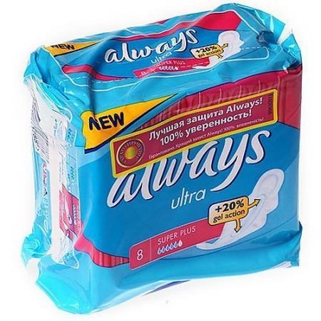 ALWAYS Ultra Женские гигиенические прокладки Super Plus Single 8шт