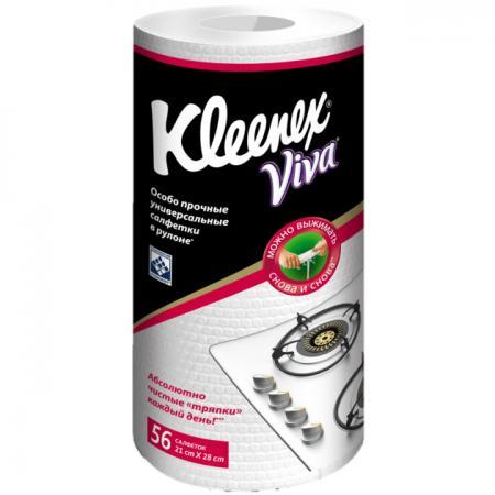 Салфетки Kleenex Viva 56 шт без отдушки 9460200