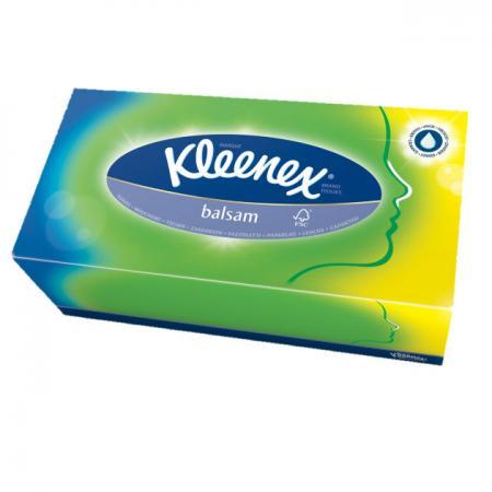 Фото Салфетки Kleenex Balsam 80 шт гипоаллергенные 3-ех слойная 3396160