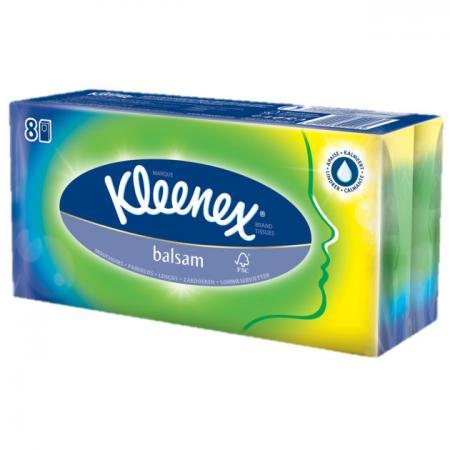 Платочки носовые kleenex balsam 9 шт ароматизированная гипоаллергенные