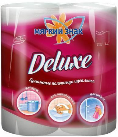 Полотенца бумажные Мягкий Знак Deluxe 2 шт 2-ух слойная