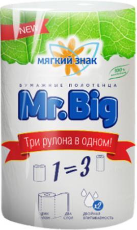 Полотенца бумажные Мягкий Знак Mr.Big 1 шт без отдушки 2-ух слойная