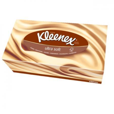 Салфетки Kleenex Ultrasoft 56 шт 3-ех слойная 3213365