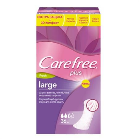 Салфетки Carefree plus Large Fresh 36 шт ароматизированная 80173