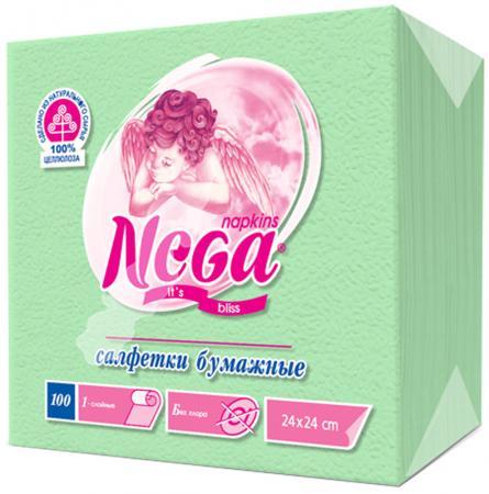 Салфетки бумажные Nega 100 шт нетканные без отдушки