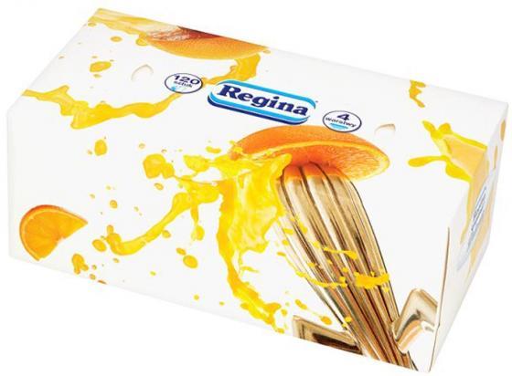 Салфетки бумажные Regina Деликатис 120 шт 4-ех слойная ароматизированная